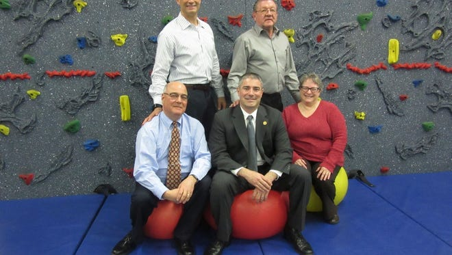 Cumberland Cape Atlantic YMCA Board of Directors recently installed new officers. They are: (seated, from left) Dave Schad, treasurer; Mike Epifanio, president; and Kathy Farinaccio, second vice president/secretary; and (standing, from left) Shayne Bevilacqua, first vice president; and Gary Galloway, past president.