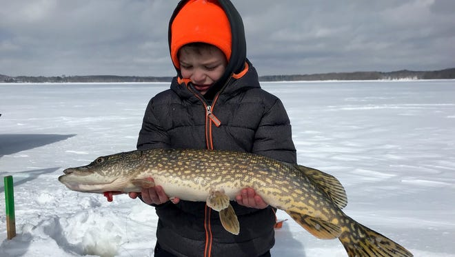 Bryce Shade with a nice central Wisconsin northern pike.