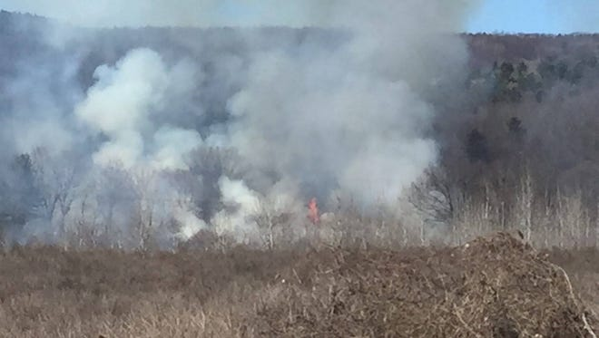 There was a brush fire in Steuben County on Monday.