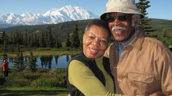 Audrey and Frank Peterman, seen here at Denali National
