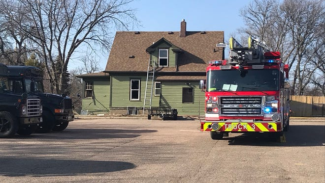 The scene of a structure fire at 218 N. Spring Ave. on April 1, 2018.