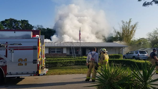 Crews were called at 8:09 a.m. to a house fire in the 800 block of Southwest 34th Street in Palm City.