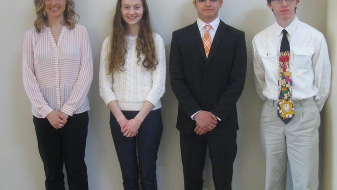 Katherine Kuss, Caitlyn Rose Kimmet, Kyle Baker and Daine Greider were each awarded scholarships from the Sandusky County Safety Council.