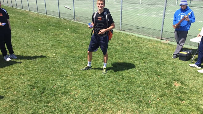 Palmyra's Ben Clary captured his first county singles title on Saturday, helping the Cougars to the team title in the process.
