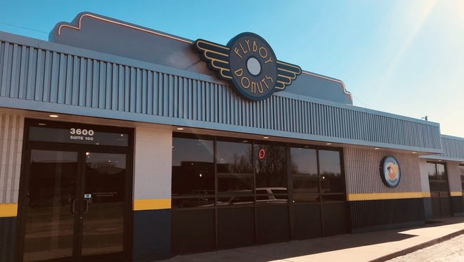 The east side location of Flyboy Donuts opened for business Monday.