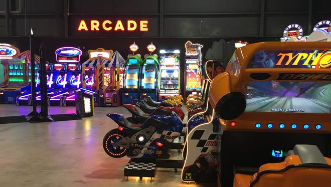 The giant arcade is ready inside The City Forum.
