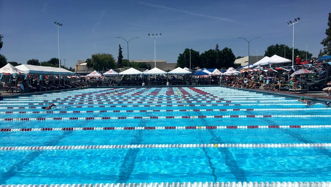 A view of the pool at the CIF Division II swim meet on Friday, May 11, 2018.