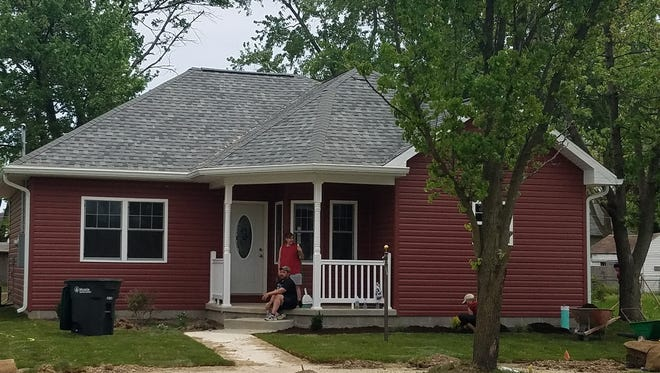 Three new houses for veterans have been built along Kilgore Avenue near Charles Street.