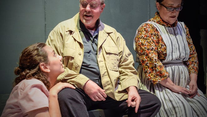 Eddie (Mark Jackson) is captivated by Catherine (Tanya Emery, left), the niece of his wife, Beatrice (Trina Williamson Jackson).