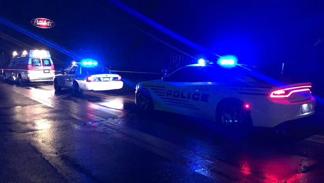 Hattiesburg police responded to a scene where a pedestrian was struck by two vehicles and killed on U.S. 11 near Interstate 59 on Friday, July 6, 2018.