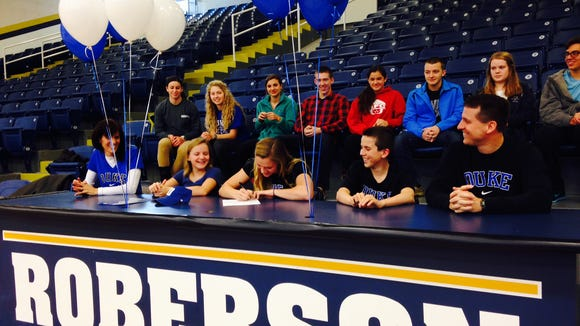 Roberson senior Alyssa Arwood has signed to swim in college for Duke.