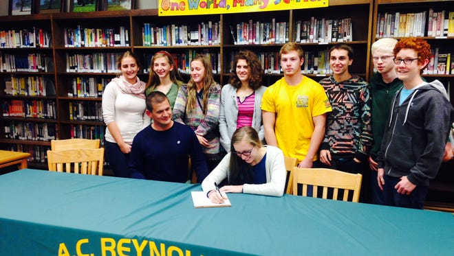 Reynolds senior Morgan Franklin has signed to swim in college for Pace (N.Y.).
