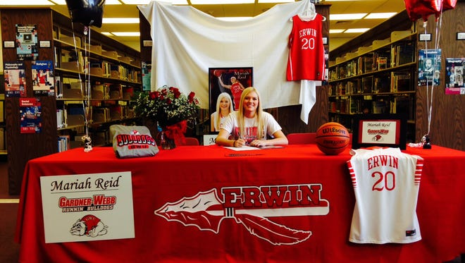 Erwin senior Mariah Reid has signed to play college basketball for Gardner-Webb.
