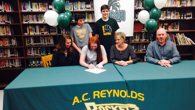 Reynolds senior Sydney Kanupp has signed to play college volleyball for Mount Olive.
