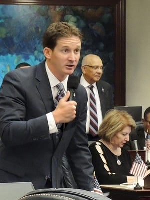 Rep. Dane Eagle, R-Cape Coral, debates a measure considered on the House floor April 3, 2014.