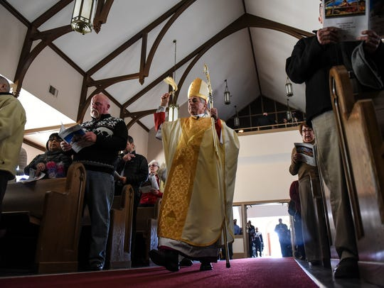 Bishop Ronald Gainer of the Diocese of Harrisburg blesses