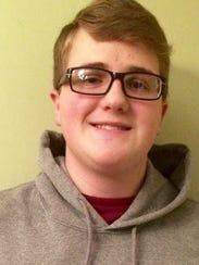 Port Huron High School bowler Mitchell Martin.