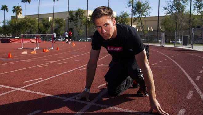 Brophy Prep track athlete Bobby Grant is pictured at Brophy Prep on Thursday, February 20, 2014 in Phoenix, Arizona.