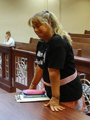 Rocky the bobcat's owner Ginny Fine was back in Stafford Municipal Court Friday.