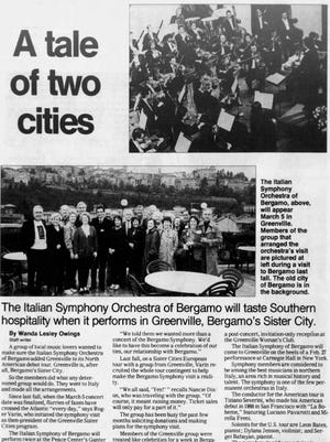 A newspaper clipping from The Greenville News on Feb. 27, 1994.