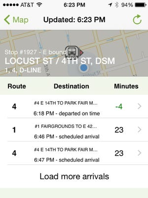 A screen grab shows the new DART-monitoring app.