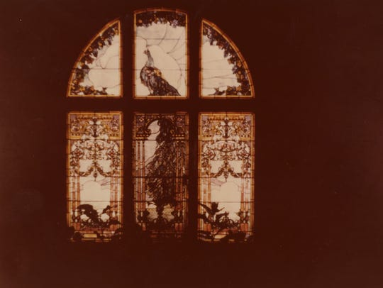 This stained glass Tiffany window adorned the landing