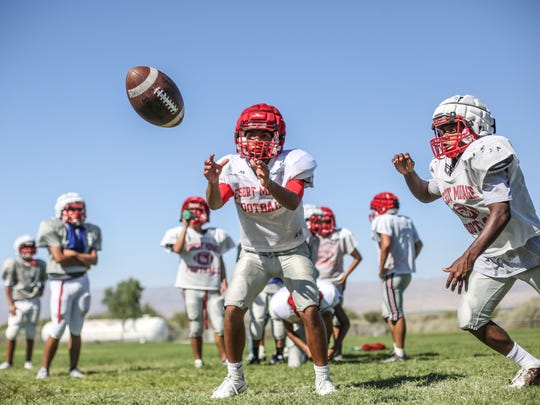 Desert Mirage football team, shown here practicing, will have a new head coach this season.