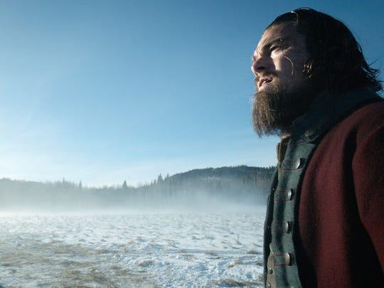 "This photo provided by Twentieth Century Fox shows, Leonardo DiCaprio in a scene from the film, ""The Revenant."""