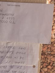 This letter was left in the mailbox of Susan Smiley