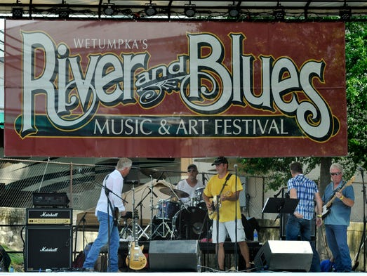 Jimmy and the Firedogs play at the Wetumpka River and Blues Music and Arts Festival at Gold Star Park on Saturday, July 19, 2014.