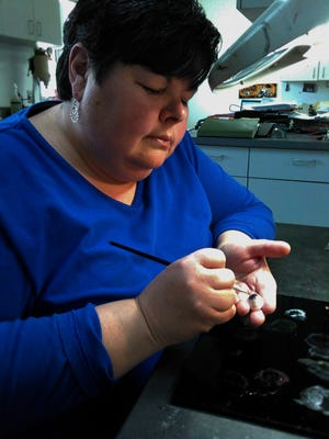 Vaune Bulgarelli fabricated and painted her first artificial eye for her father's company about 25 years ago.