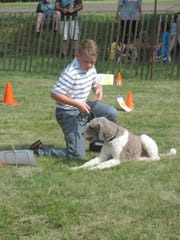 Dog Training Award winner Noah Ryan with his dog Percy