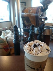 The Lavender hot cocoa at Coffee Corral in Red Bank.