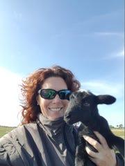 Nicole Kozak, owner of Circle C Farms, raises grass-fed