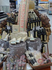 A display of cheese and charcuterie at the new Fresh Emporium supermarket.