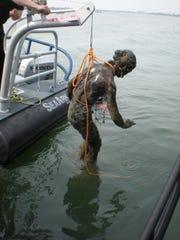 Detroit Police Department diver Sgt. Michael Carpenter