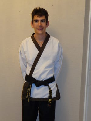 Nick Pagan is a 3rd degree black belt in Tai Kwon Do and trains at K.C. Chung Tai Kwon Do in Stuart