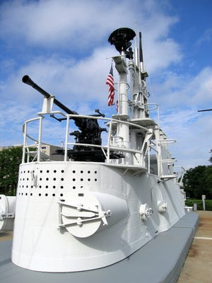 Conning tower of the USS Flasher is on display at the National Submarine Memorial in Groton, Conn.
