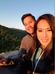David Le proposed to Jenny Pham Saturday on top of