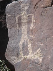 Petroglyphs like this one are found across the Agua