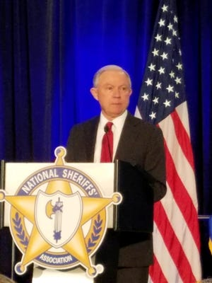 Christian County Sheriff Brad Cole attended a speech by U.S. Attorney General Jeff Sessions at the National Sheriffs' Association.