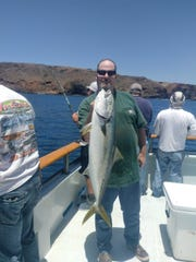 Todd Royer from Ventura caught a 15-pound yellowtail aboard the Erna-B.