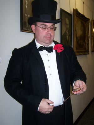 President William McKinley looks at his watch, which later will be stolen. Participants will join with a cast of suspicious characters to virtually solve the mystery of his stolen watch. Submitted photo