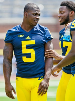Michigan freshmen cornerback Jabrill Peppers (5).