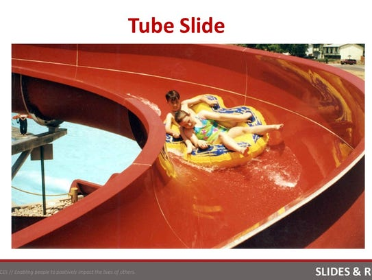 A tube slide is one of the possible features at the