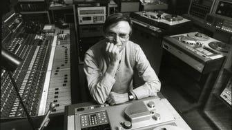 In this 1989 file photo, Rudy Van Gelder is shown in his studio in Englewood Cliffs.