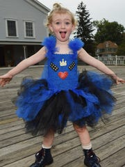 Fenner Barnett-Zunino, 3, pictured in her Halloween costume outside of The Wassaic Project in Wassaic.