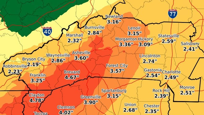 Western North Carolina is under a flash flood watch and could see 3-6 inches of rain through Thursday as Tropical Storm Alberto makes landfall.