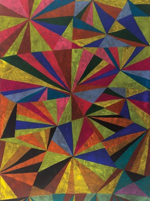 """Artist William J. O'Brien's untitled drawing in  colored pencil from 2015 is part of the Kentucky Museum of Art and Craft exhibit """"Oscillates Wildly."""""""