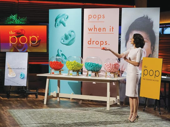 "Nicki Radzely promoting The Pop on ""Shark Tank"""